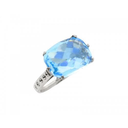 Δαχτυλίδι γυναικείο με γαλάζια πέτρα