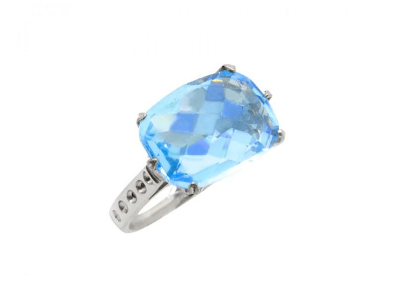 Δαχτυλίδι γυναικείο με γαλάζια πέτρα 27fe7103c1a