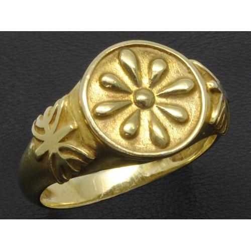 Δαχτυλίδι με τη Βεργίνα και το σήμα το Έψιλων