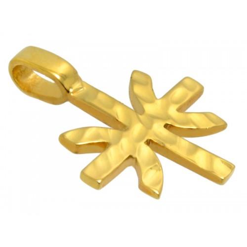 Κίτρινος ανδρικός σταυρός με το σήμα των Έψιλων
