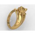 Γυναικείο χρυσό δαχτυλίδι γάτα