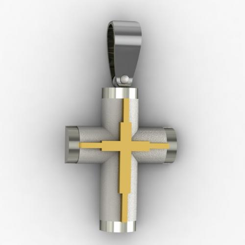 10262 / 14 καράτια, κόκκινο, χρυσό, λευκόχρυσο, σταυρός, γυναικείος Σταυροί