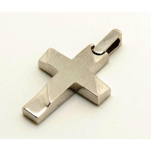 10105 / 14 καράτια, κόκκινο, χρυσό, λευκόχρυσο, σταυρός, γυναικείος Σταυροί