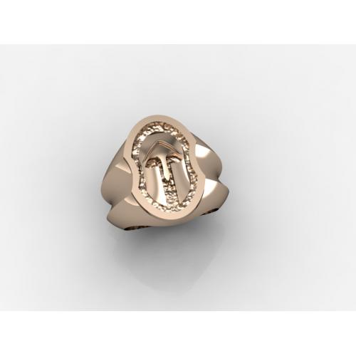 Δαχτυλίδι με περικεφαλαία αρχαίου Ελληνικού τύπου σε κίτρινο χρυσό