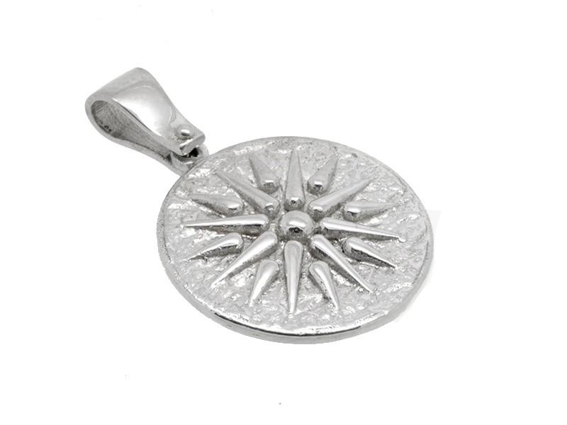 ... Ήλιος της Βεργίνας στρογγυλό κρεμαστό σε λευκό χρώμα 138c453c7a2