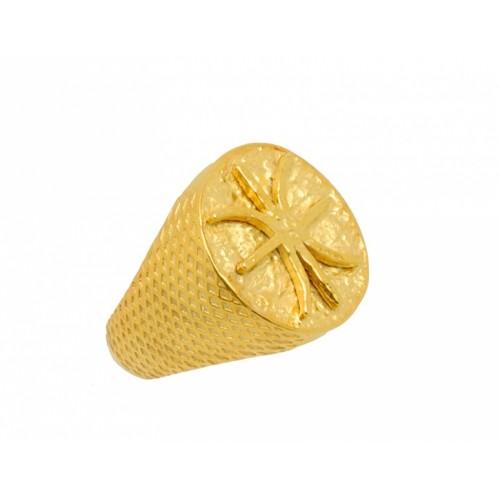 Δαχτυλίδι οβάλ σε κίτρινο χρώμα με το σήμα των Έψιλων