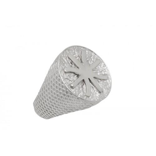 Δαχτυλίδι οβάλ σε λευκό χρώμα με το σήμα των Έψιλων