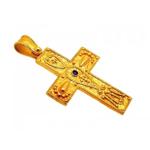 1010914 καράτια, κόκκινο, χρυσό, λευκόχρυσο, σταυρός, γυναικείος Σταυροί