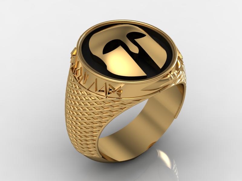 Δαχτυλίδι με περικεφαλαία αρχαίου Ελληνικού τύπου σε κίτρινο χρυσό ... 8d7c0291577