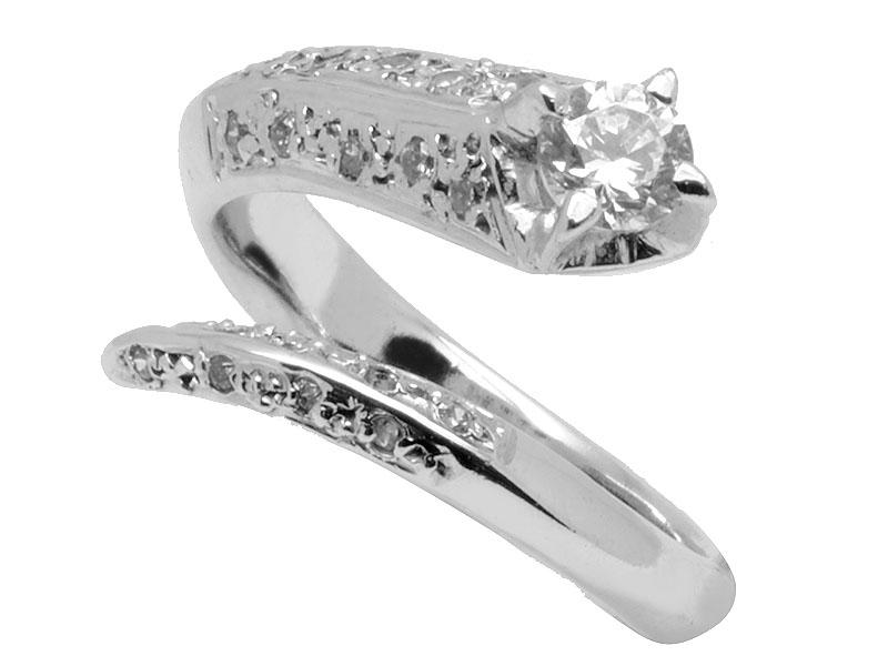 Μονόπετρο δαχτυλίδι στα 14 καράτια με ζιργκον πέτρα σε λευκόχρυσο e73fe5f4403